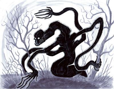 Illustration of the Beast of Averoigne